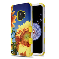 Military Grade Certified TUFF Image Hybrid Armor Case for Samsung Galaxy S9 Plus - Sunflower Field