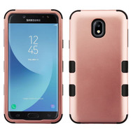 Military Grade Certified TUFF Hybrid Armor Case for Samsung Galaxy J7 (2018) / J7 Refine - Rose Gold 059