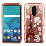 Military Grade Certified TUFF Image Hybrid Armor Case for LG Stylo 4 / Stylo 4 Plus - Eiffel Tower Rose Gold