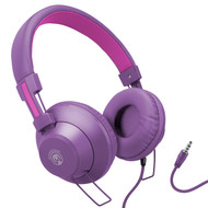 *Sale* HyperGear V50 Stereo Headphones with In-Line Microphone and Remote - Purple Pink