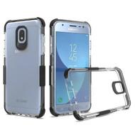 *Sale* Transparent Protective Bumper Case for Samsung Galaxy J3 (2018) / J3 Achieve / J3 Star - Black