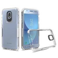*Sale* Transparent Protective Bumper Case for Samsung Galaxy J3 (2018) / J3 Achieve / J3 Star - White