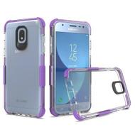 *Sale* Transparent Protective Bumper Case for Samsung Galaxy J3 (2018) / J3 Achieve / J3 Star - Purple
