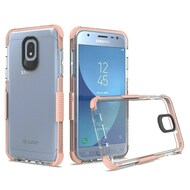 Transparent Protective Bumper Case for Samsung Galaxy J3 (2018) / J3 Achieve / J3 Star - Rose Gold