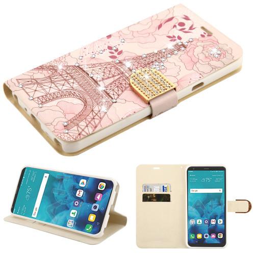 quality design 26a6d ebfe1 Luxury Bling Portfolio Leather Wallet Case for LG Stylo 4 / Stylo 4 ...