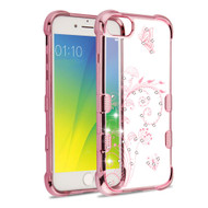 *Sale* TUFF Klarity Electroplating Transparent Anti-Shock TPU Diamond Case for iPhone 8 / 7 / 6S / 6 - Lily of Valley