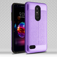 Leather Texture Anti-Shock Hybrid Protection Case for LG K30 / Harmony 2 / Phoenix Plus / Premier Pro - Purple