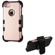 Military Grade Certified TUFF Hybrid Armor Case with Holster for iPhone 8 / 7 - Rose Gold 059