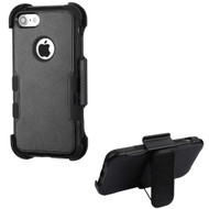Military Grade Certified TUFF Hybrid Armor Case with Holster for iPhone 8 / 7 - Black 251