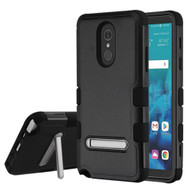 Military Grade Certified TUFF Hybrid Armor Case with Stand for LG Stylo 4 / Stylo 4 Plus - Black