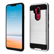 Brushed Coated Hybrid Armor Case for LG G7 ThinQ - Silver