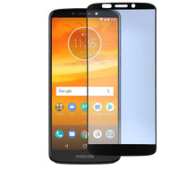 Full Coverage Premium 2.5D Round Edge HD Tempered Glass Screen Protector for Motorola Moto E5 Plus - Black