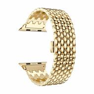 Stainless Steel Link Bracelet Watch Band with Butterfly Lock for Apple Watch 44mm / 42mm - Gold