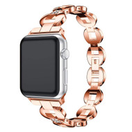 *SALE* Stainless Steel Diamond Chain Watch Band for Apple Watch 40mm / 38mm - Rose Gold