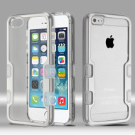 TUFF Panoview Transparent Hybrid Case for iPhone SE / 5S / 5 - Silver