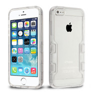 TUFF Panoview Transparent Hybrid Case for iPhone SE / 5S / 5 - Clear