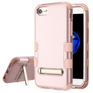 Military Grade Certified TUFF Hybrid Armor Case with Stand for iPhone 8 / 7 / 6S / 6 - Rose Gold
