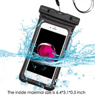 Stay Dry Floating Air Cushion Waterproof Pouch with Armband and Lanyard - Black