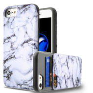 Under Cover Card Slot Case for iPhone 8 / 7 - Marble White