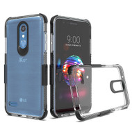 *Sale* Transparent Protective Bumper Case for LG K30 / Harmony 2 / Phoenix Plus / Premier Pro - Black