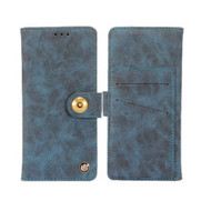 *SALE* Faux Suede Leather Wallet with Detachable Magnetic Case for Motorola Moto E5 Plus - Blue