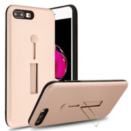 Finger Loop Case with Kickstand for  iPhone 8 Plus / 7 Plus - Rose Gold