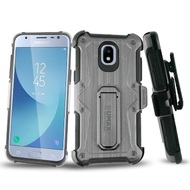 HD Holster Case + Tempered Glass for Samsung Galaxy J3 (2018) / J3 Achieve / J3 Star - Black
