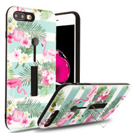 Finger Loop Case with Kickstand for  iPhone 8 Plus / 7 Plus - Tropical Flamingo