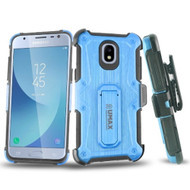 *Sale* HD Holster Case + Tempered Glass for Samsung Galaxy J3 (2018) - Blue
