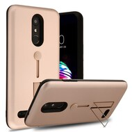 Finger Loop Case with Kickstand for LG K30 / Harmony 2 / Phoenix Plus / Premier Pro - Rose Gold