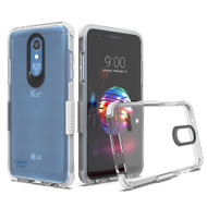 Transparent Protective Bumper Case for LG K30 / Harmony 2 / Phoenix Plus / Premier Pro - White