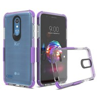 Transparent Protective Bumper Case for LG K30 / Harmony 2 / Phoenix Plus / Premier Pro - Purple