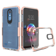 Transparent Protective Bumper Case for LG K30 / Harmony 2 / Phoenix Plus / Premier Pro - Rose Gold