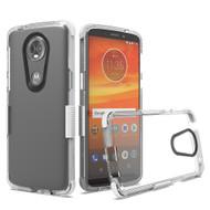 *Sale* Transparent Protective Bumper Case for Motorola Moto E5 Plus - White