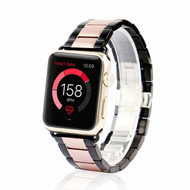 Classic Stainless Steel Two Tone Bracelet Watch Band with Butterfly Lock for Apple Watch 44mm / 42mm - Rose Gold