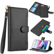Napa Collection Luxury Leather Wallet with Magnetic Detachable Case for iPhone 8 / 7 / 6S / 6 - Black