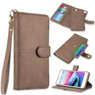 *SALE* Napa Collection Luxury Leather Wallet + Magnetic Detachable Case for iPhone 8 Plus / 7 Plus / 6S Plus - Brown