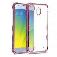 *Sale* TUFF Klarity Electroplating Transparent Anti-Shock TPU Case for Samsung Galaxy J3 (2018) - Rose Gold