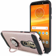 *SALE* Sports Hybrid Armor Case with Smart Loop Ring Holder for Motorola Moto G6 Play / G6 Forge - Rose Gold