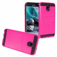 *Sale* Brushed Coated Hybrid Armor Case for Samsung Galaxy J7 (2018) / J7 Refine / J7 Star / J7 V (2nd Gen) - Hot Pink