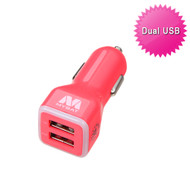 Mybat Universal Dual USB Vehicle Car Charger 3.1A - Electric Pink