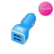 Mybat Universal Dual USB Vehicle Car Charger 3.1A - Blue 10D