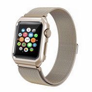 *SALE* 2-IN-1 Aluminum Bumper Case and Stainless Steel Mesh Magnetic Watch Band for Apple Watch 42mm - Gold