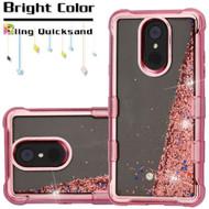 Electroplating Tuff Lite Quicksand Case for LG Stylo 4 - Rose Gold