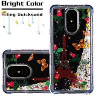 Tuff Lite Quicksand Case for LG Stylo 4 - Paris Monarch Butterflies