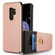 Under Cover Card Slot Case for Samsung Galaxy S9 Plus - Rose Gold