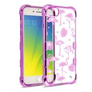 TUFF Klarity Electroplating Transparent Anti-Shock TPU Diamond Case for iPhone 8 / 7 / 6S / 6 - Flamingo Land