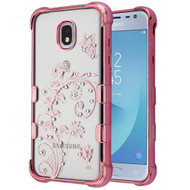 TUFF Klarity Electroplating Transparent Anti-Shock TPU Diamond Case for Samsung Galaxy J3 (2018) - Lily of Valley