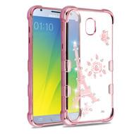 TUFF Klarity Electroplating Transparent Anti-Shock TPU Diamond Case for Samsung Galaxy J3 (2018) - Eiffel Tower