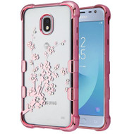 TUFF Klarity Electroplating Transparent Anti-Shock TPU Diamond Case for Samsung Galaxy J3 (2018) - Spring Flower